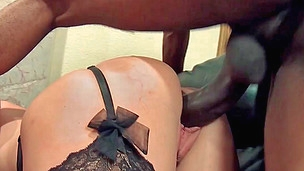 Black horny thug finds a perfect milf's vacant hole