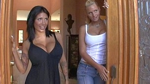 Slutty housewives get done in front of their husbands