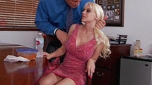 My wife's busty blonde side Sandy