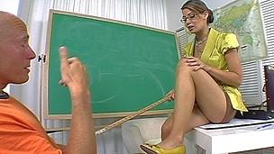 Not allowed to cum until absorbs teacher lets