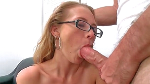 Splendid blonde cutie Natasha gets pounded hard on a couch