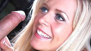 Gorgeous Golden-Haired Sucks Large Penis For Semen
