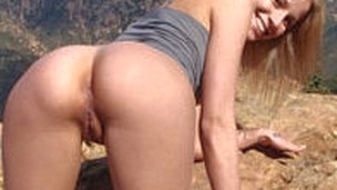 Beautiful girlfriend Jas XO goes outdoors with her bf for some wicked fun
