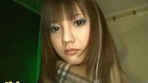Sexy beautiful hot lengthy haired asian teen blowing dick deep