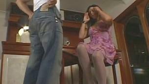 Aline&Sandro ladyboy copulates dude action