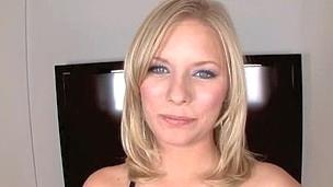 Blond Legal Age Teen Wearing Braces Gobbles Down Cum