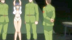 Hentai looker got imprisoned by soldiers