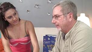 nikki pursue licks her stepdad's hairy asshole