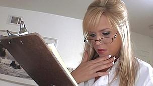 Wild nurse Darcy Tyler with inborn tits is satisfying her patient