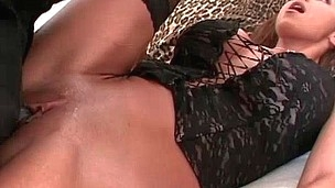 Mother I'd Like To Fuck screams as this babe climaxes on large dick