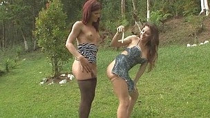 Paola&Patricia cocky shemale on clip