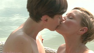 Hot lesbos Lisa and Silvia's explicit outdoor pleasuring