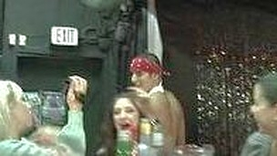 A squad of sex crazed women  a pair male strippers and whip cream.