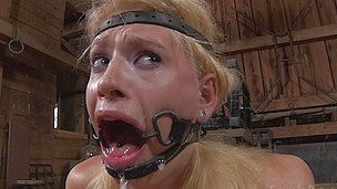 blonde face fucked and tortured