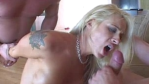 A Slut takes it in the butt and mouth