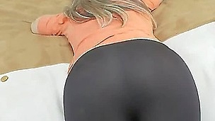 Lexi Enjoy has awesome powerful ass, of course her ass is awesome when it is naked, but it is no less arousing in these spandex pants! This guy gets really crazy!