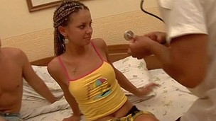 Legal Age Teenager gets her cunt checked