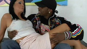 Menacing nasty swag guy is seducing this whore and pounding her cunt