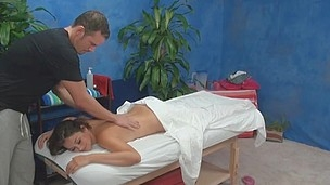 Allie enticed and fucked by her rub down therapist on hidden camera