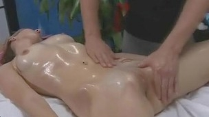Stud inserts his piece of meat in wet beauty's fuckbox after touching her fresh body
