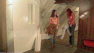 Demure Ivy lets pretty lesbian Ariel savors her innocent twat